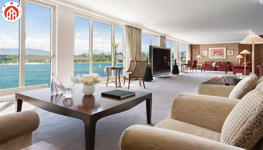 The Royal Penthouse Suite at the Hotel President Wilson, Geneva