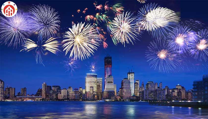 new york, new year