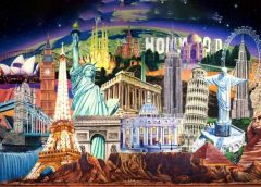 landmarks of the world collage