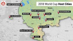 Cities hosting FIFA World Cup 2018