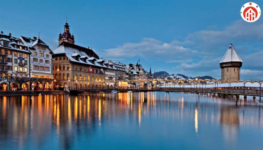 lucerne winter night