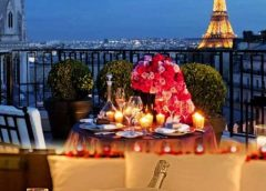 romantic paris night